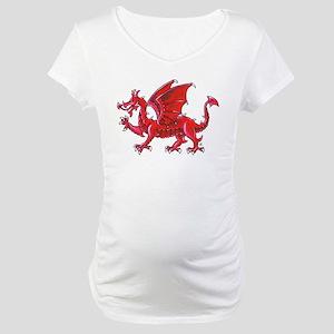 Red Dragon Passant Maternity T-Shirt