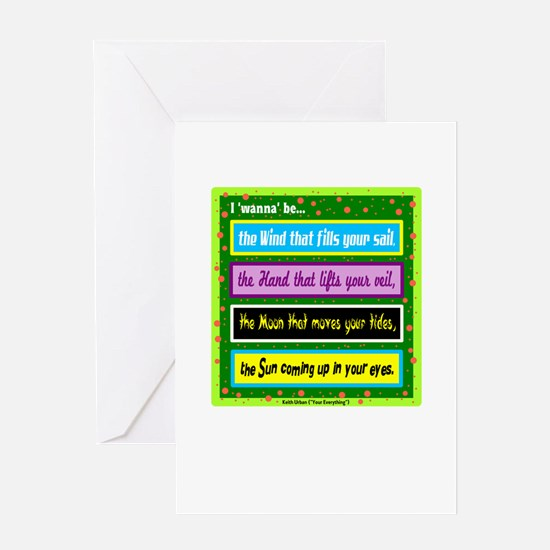 I Wanna Be-Keith Urban/t-shirt Greeting Cards