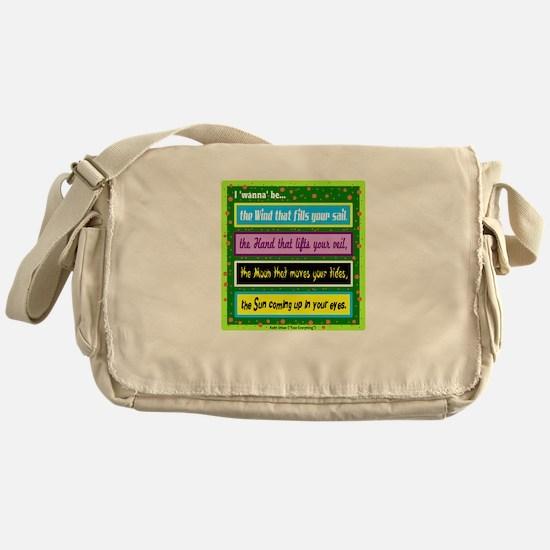 I Wanna Be-Keith Urban/t-shirt Messenger Bag