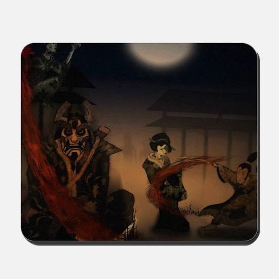 samurai vs zombies Mousepad