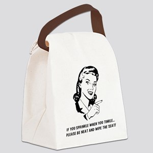 If you sprinkle when you tinkle Canvas Lunch Bag