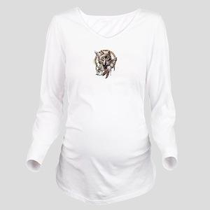 Howlin' Balls Long Sleeve Maternity T-Shirt