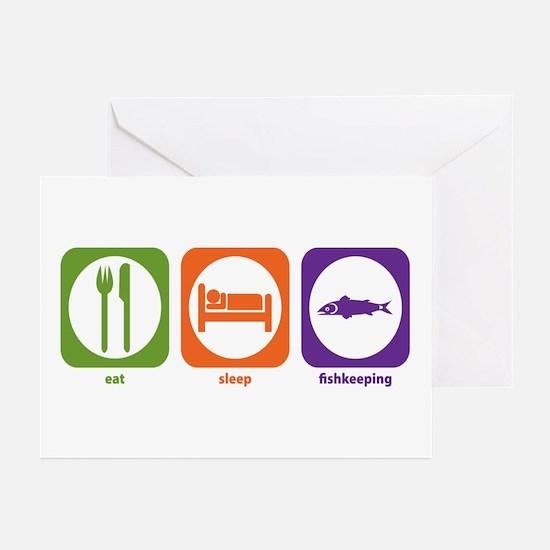 Eat Sleep Fishkeeping Greeting Cards (Pk of 10