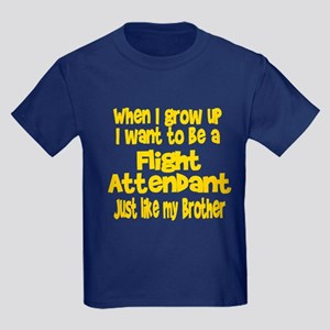 WIGU Flight Attendant Brother Kids Dark T-Shirt