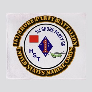 USMC - 1st Shore Party Battalion with Text Throw B