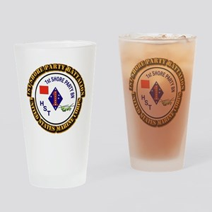 USMC - 1st Shore Party Battalion with Text Drinkin