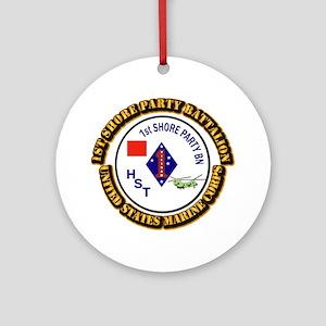 USMC - 1st Shore Party Battalion with Text Ornamen