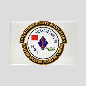 USMC - 1st Shore Party Battalion with Text Rectang