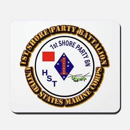 USMC - 1st Shore Party Battalion with Text Mousepa