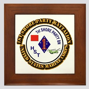 USMC - 1st Shore Party Battalion with Text Framed