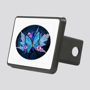 blue butterfly Hitch Cover