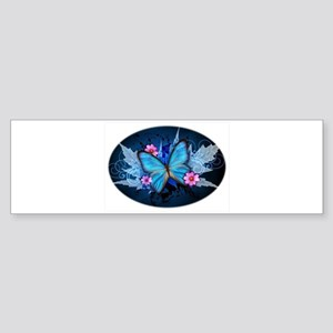 blue butterfly Bumper Sticker