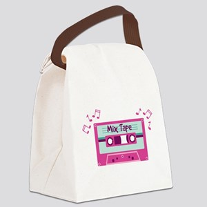 Mix Tape Music Notes Canvas Lunch Bag