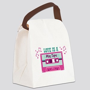 LOVE IS A Mix Tape Canvas Lunch Bag