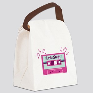 Love Songs Canvas Lunch Bag