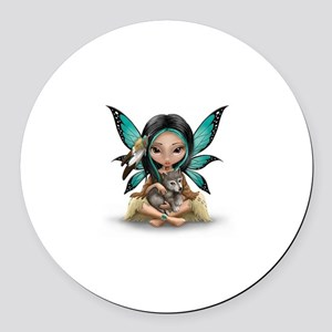 native darling Round Car Magnet