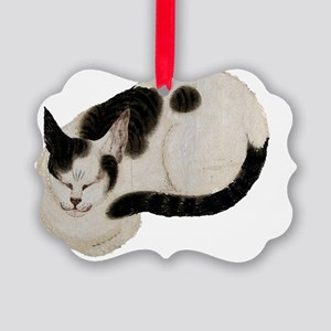Japanese Cat Sleeping Picture Ornament