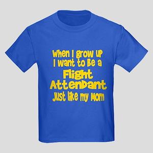 WIGU Flight Attendant Mom Kids Dark T-Shirt