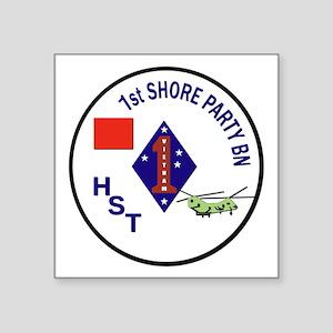 "USMC - 1st Shore Party Battalion Square Sticker 3"""