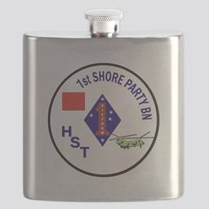 USMC - 1st Shore Party Battalion Flask