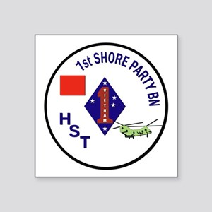USMC - 1st Shore Party Battalion Square Sticker 3""