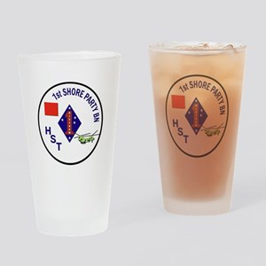 USMC - 1st Shore Party Battalion Drinking Glass
