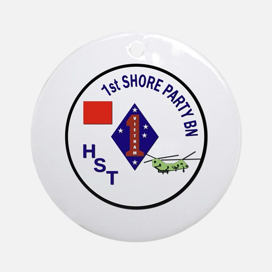 USMC - 1st Shore Party Battalion Ornament (Round)