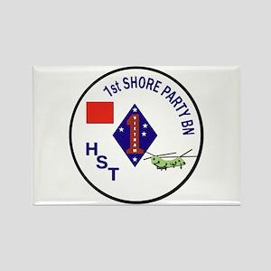 USMC - 1st Shore Party Battalion Rectangle Magnet
