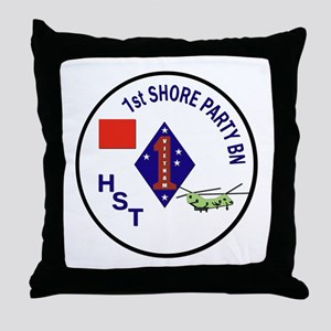 USMC - 1st Shore Party Battalion Throw Pillow