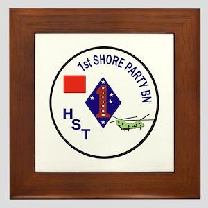 USMC - 1st Shore Party Battalion Framed Tile