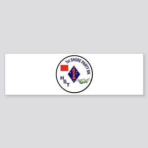 USMC - 1st Shore Party Battalion Sticker (Bumper)