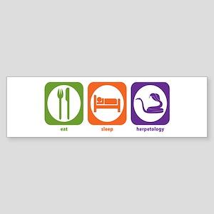 Eat Sleep Herpetology Bumper Sticker