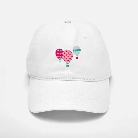 Hot Air Balloon Hearts Baseball Baseball Baseball Cap