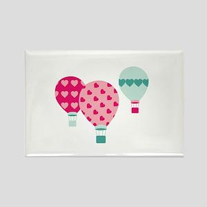 Hot Air Balloon Hearts Magnets