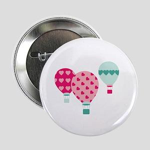 """Hot Air Balloon Hearts 2.25"""" Button"""