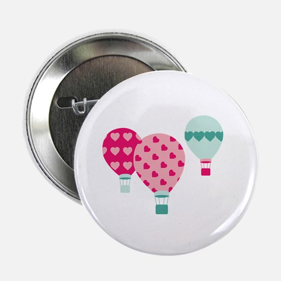 "Hot Air Balloon Hearts 2.25"" Button"