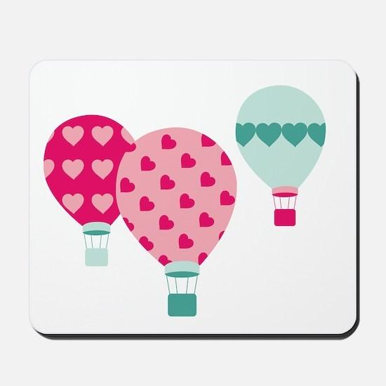 Hot Air Balloon Hearts Mousepad