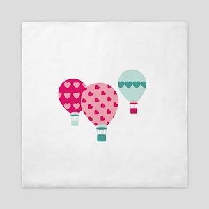 Hot Air Balloon Hearts Queen Duvet