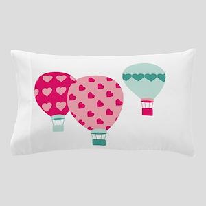 Hot Air Balloon Hearts Pillow Case