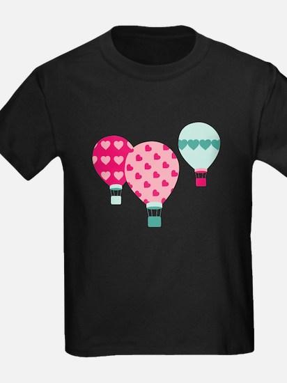 Hot Air Balloon Hearts T-Shirt