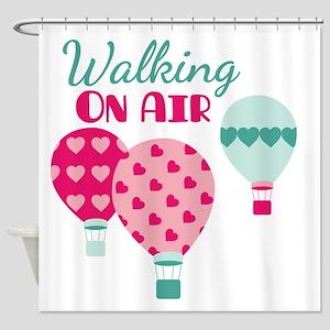 Walking ON AIR Shower Curtain