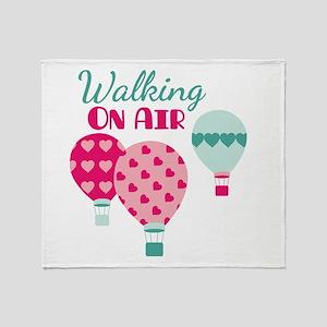 Walking ON AIR Throw Blanket
