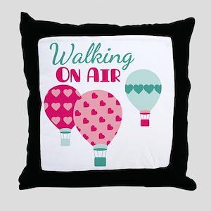 Walking ON AIR Throw Pillow