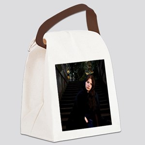 Girl on Stairs Canvas Lunch Bag