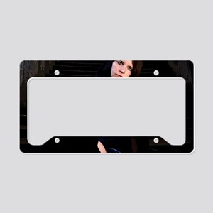 Girl on Stairs License Plate Holder