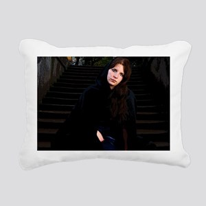 Girl on Stairs Rectangular Canvas Pillow