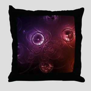Abstract Raindrops Throw Pillow