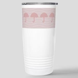 Cute Pink Umbrella Stainless Steel Travel Mug