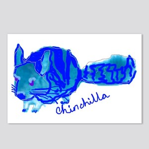 Blue Chinchilla Postcards (Package of 8)