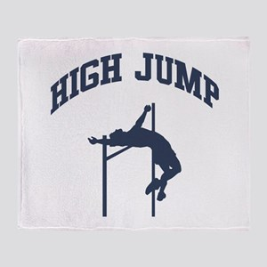 High Jump Throw Blanket
